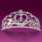 Fashion heart design diamond wedding tiara