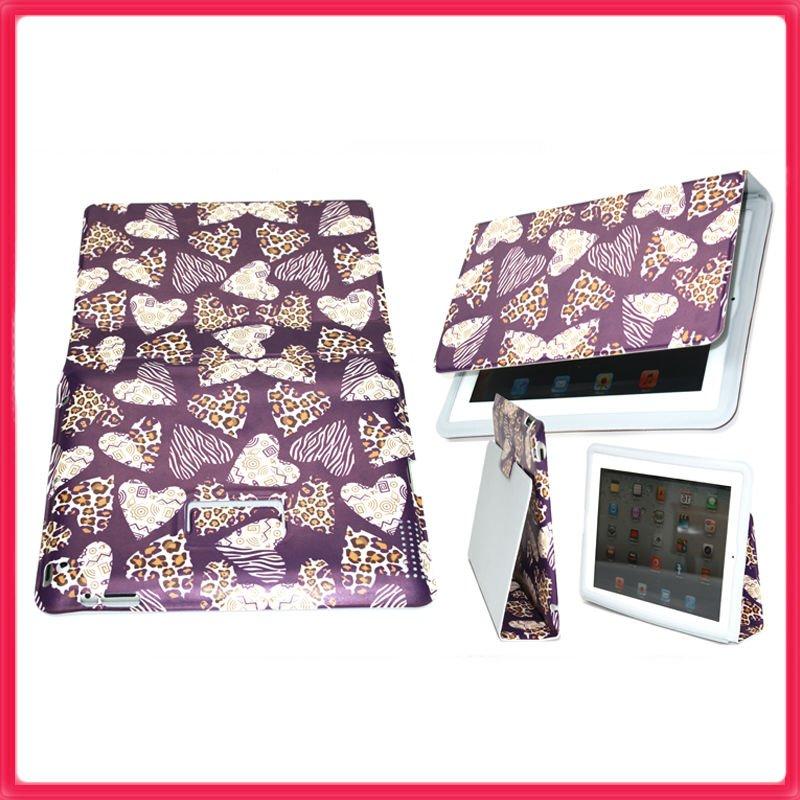 Pu slim leather case for ipad 2 - purple