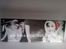 JPF-652 Long Rectangle Clear Wedding Pictures Display