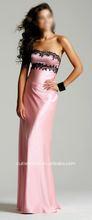 Lumière rose noir Simple robe du soir