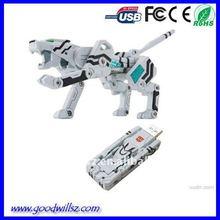 Hot Selling Transformer White Tiger USB Flash Drive