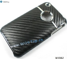 Carbon Fiber Skin Hard Case for iPhone 3Gs. Color Black
