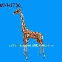 2012 new fashion resin ornament tall giraffe statue