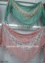 Fashion flower+lace stylish scarf
