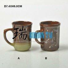 special design handle ceramic mug