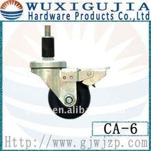 White rubber 125mm caster wheel