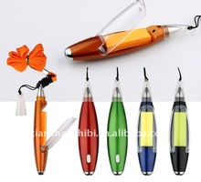 2012 Lastest Design Popular Memo and Light Promotional Ballpoint Pen