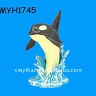 2014 new fashion resin ornament orca whale
