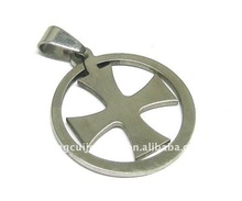stainless steel cheap cross pendants laser cut fan shape metal pendant