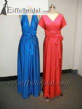 RLD009 Designer v-neck sleeveless real sample Change skirt evening dress