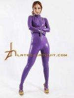 Purple larex restrictive catsuit