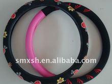flowers printed colourful steering wheel cover in universal