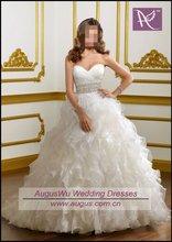 AWB0243 2012 Latest Designer Ruffle Bridal Wedding Gowns