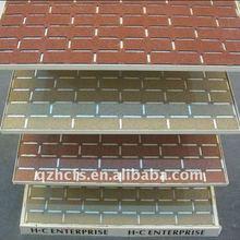 Hongcheng newest siamesed fiberglass asphalt facing brick wall tile