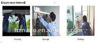 aqueous Transparent heat-proof glass paint ( sponge method allowed)
