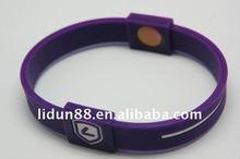 2012 Recycled silicone enviromental energy catholic rosary balance bracelet