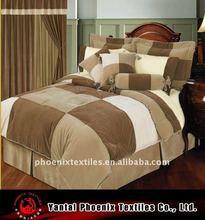 7pcs patchwork velvet comforter set