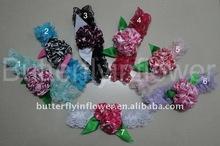 girls interchangable Lace/ satin headbands with satin rose flower