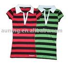 girls polo t-shirt / polo shirt / yarn dyed t shirt