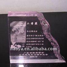 2012 Hot Sale!! Custom Purple Acrylic Trophy Award