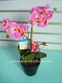 novo estilo artificial em vaso de flor com arranjo orquídea borboleta