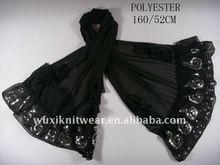 mantón antiguo de seda de la bufanda 100%pure