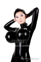 Full Latex Body Suit with Inflatable Boobs
