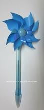 Blue Wind-up pinwheell Pen