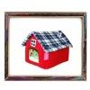 UW-PB-0007 High-quality red fleece pet product soft dog house