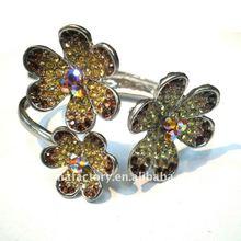 2012 Fashion vintage brown Crystal flower color bangle