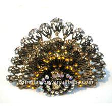 2012 Fashion Vintage brown Crystal Peacock Metal Banlge