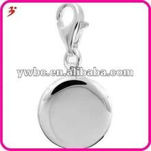 popular silver alloy dish charm pendant jewlery(H100452)
