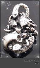 P020 popular snakes and skulls stainless steel pendant