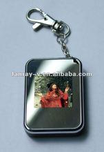 Popular goods 1.5 inch digital photo frame keychain