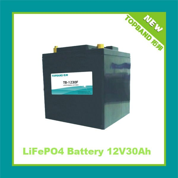 High rate LiFePO4 Auto start battery 12V30Ah with BMS TB-1230F