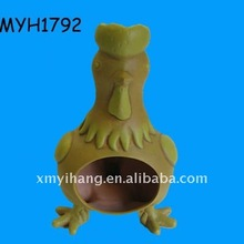 2012 new hot sale terracotta yellow rooster chiminea