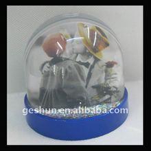 plastic snow globe with photo insert