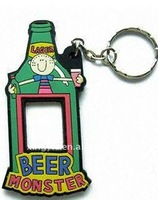 customized advertising soft pvc rubber keychain
