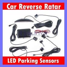 LED Sound Alert 4 Parking Sensors Car Reverse Backup Radar