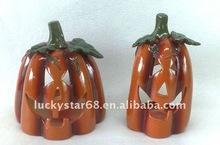 halloween pumpkin crafts and candleholder decoration
