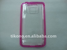 new arrival TPU bumper and clear hard case for i9100