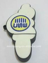 PVC build white tubular ice cream USB flash drive promotion gift