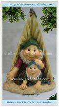 Polyresin Gnome Garden Statues W/ Solar Light