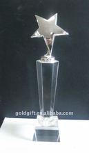metal star crystal awards