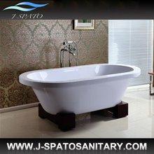 Wooden tray freestanding bathtub JS-G006