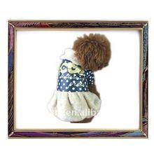 Designer blue and white warm dog winter skirt for 2012