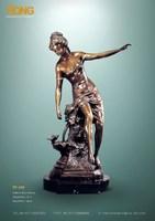 EP-008 sculpture nue sculpture bronze beautiful lady statue