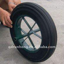 Metal wheelbarrow wheel air compressor solid rubber wheel