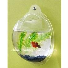 acrylic wall hanging fish bowl