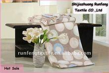 Printed coral fleece blanket camle circle